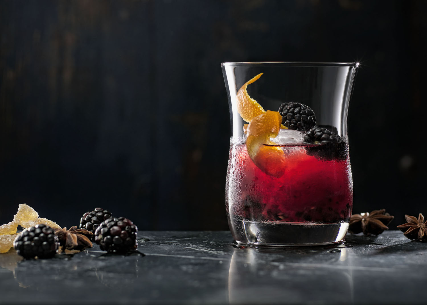 Blackberry Ginger Old Fashioned