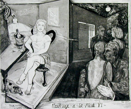 Hogarth Portfolio: Marriage-a-la-mode VI - She becomes the manageress of an escort agency- Deborah Bell