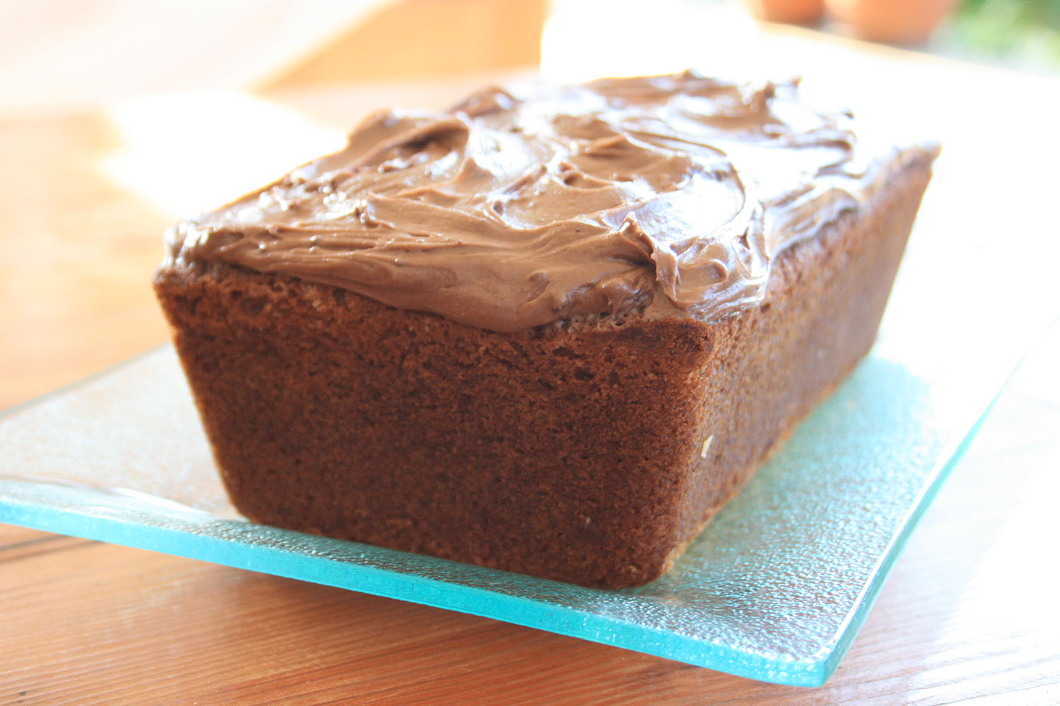Delectable banana bread with chocolate & peanut butter icing