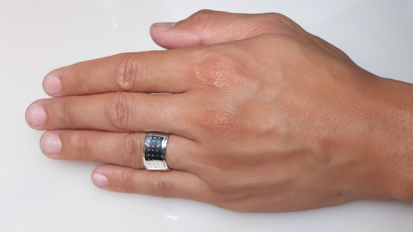 Mens Sterling Silver Traditional Band-Aid Rings