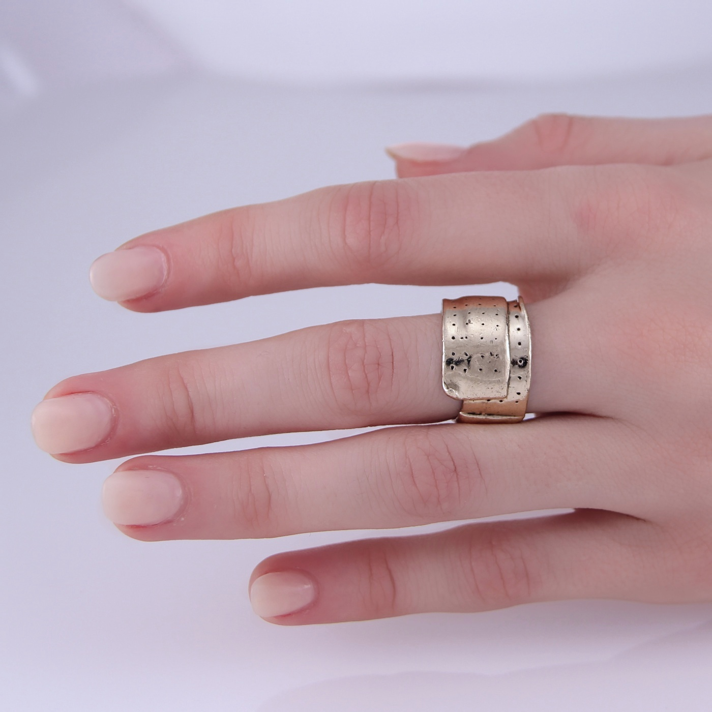 Womens Sterling Silver Limited Edition Mini Band-Aid Ring