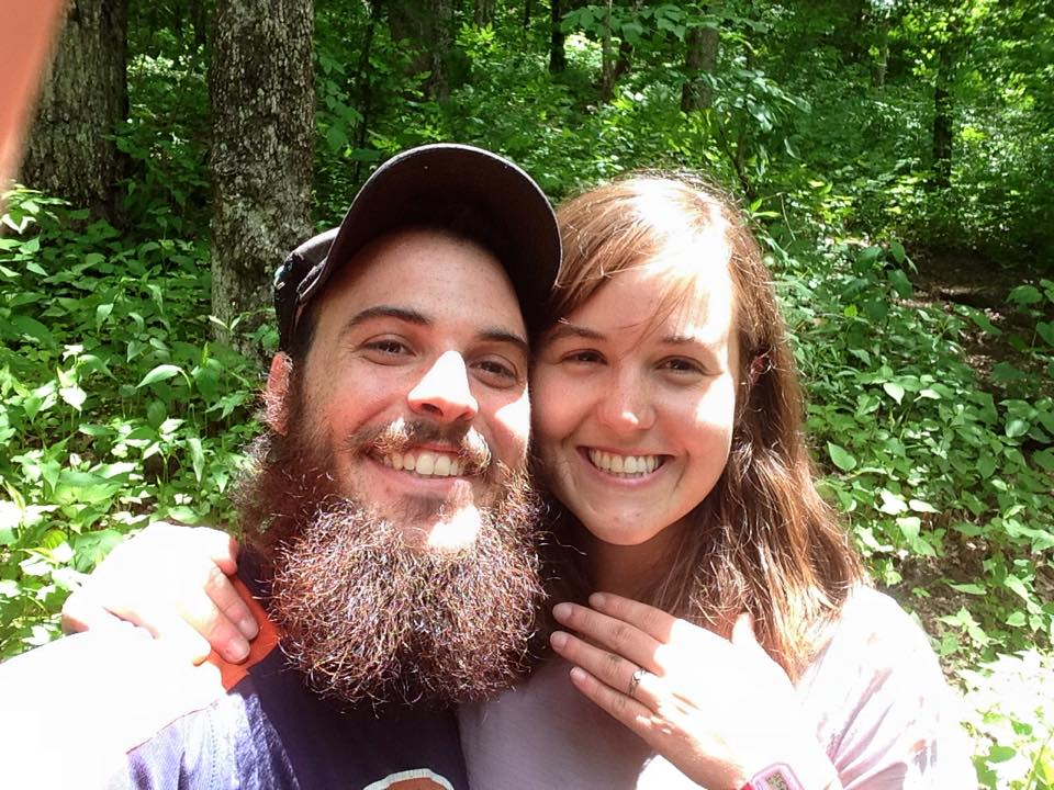 Luke and I met near the 100-mile mark while independently hiking the Appalachian Trail in March 2012. We had been hiking for about a week at that point. We hiked the rest of the trail together, fell in love, and moved to Asheville the next year. This past May, we returned our meeting spot and he proposed!!