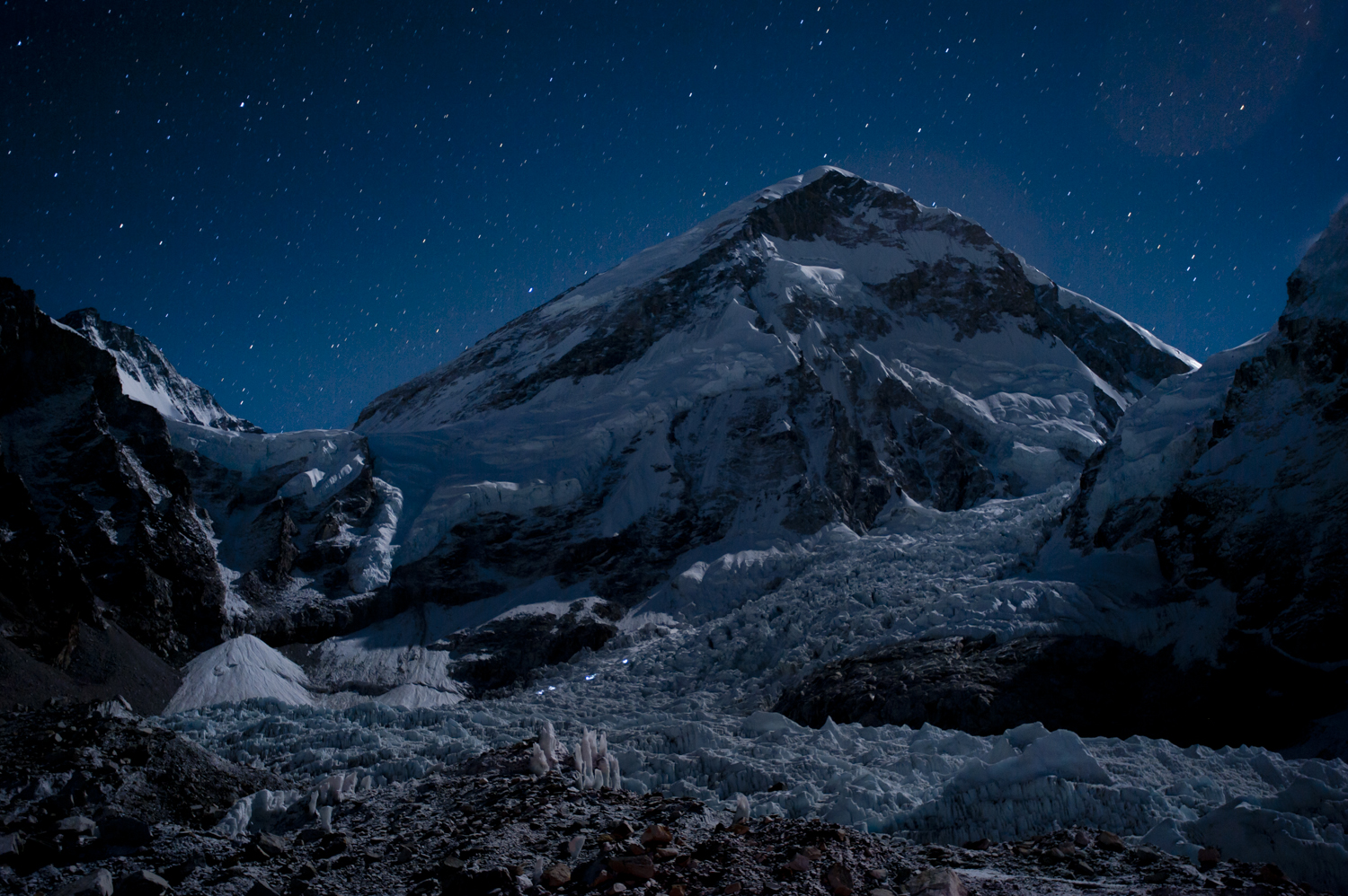 Head torches, Everest, Nepal