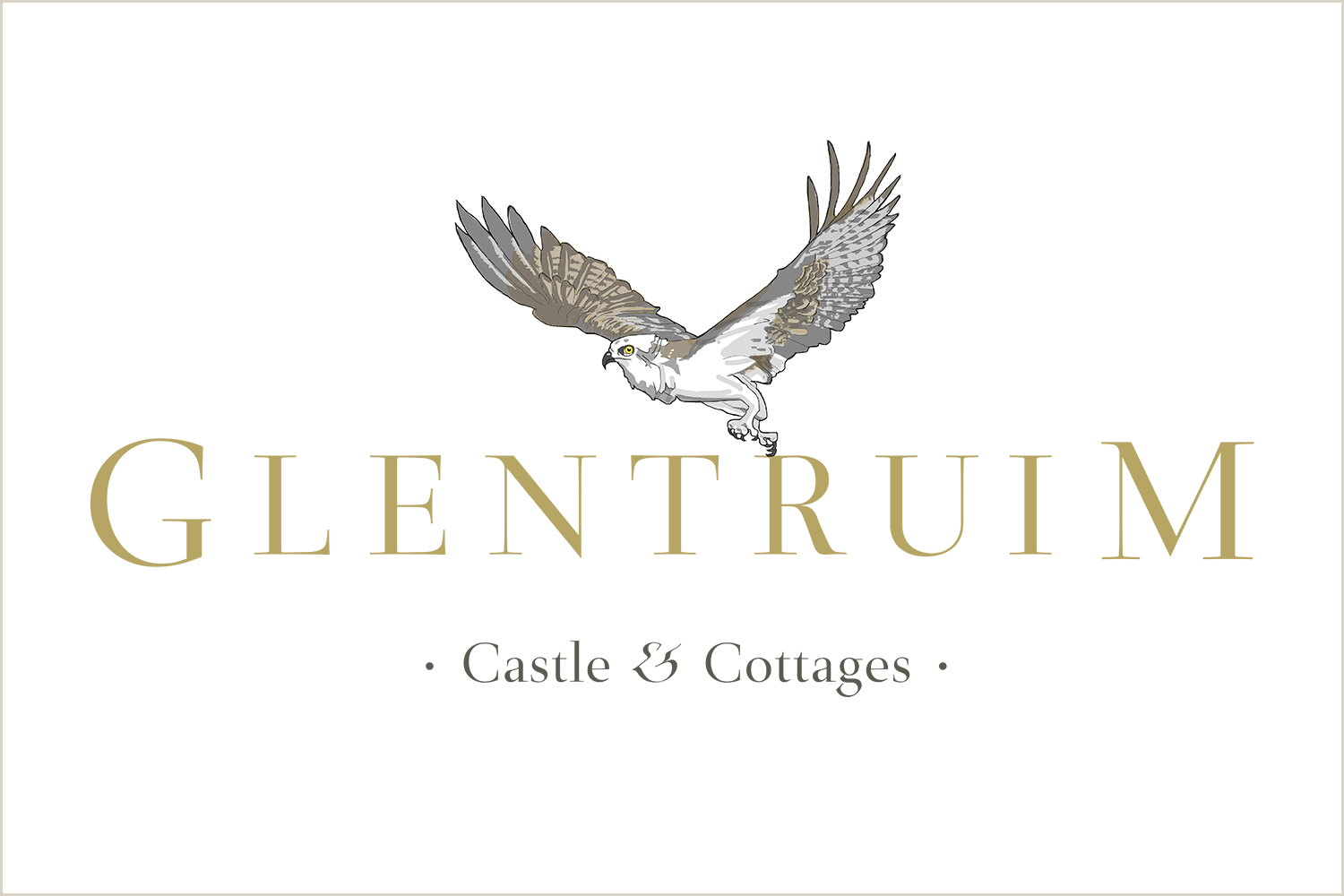 The new Glentruim logo features an Osprey which can easily be seen in the Cairngorms.