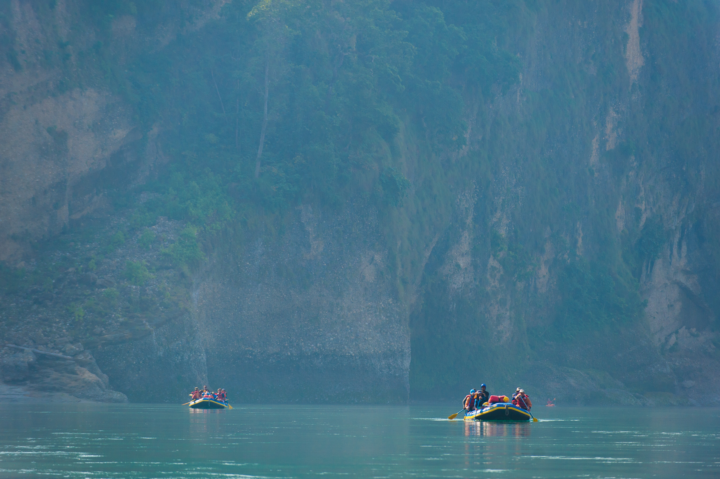 One of the major draws of rafting the Karnali is the surrounding countryside and drifting silently downriver is the perfect way to see it.