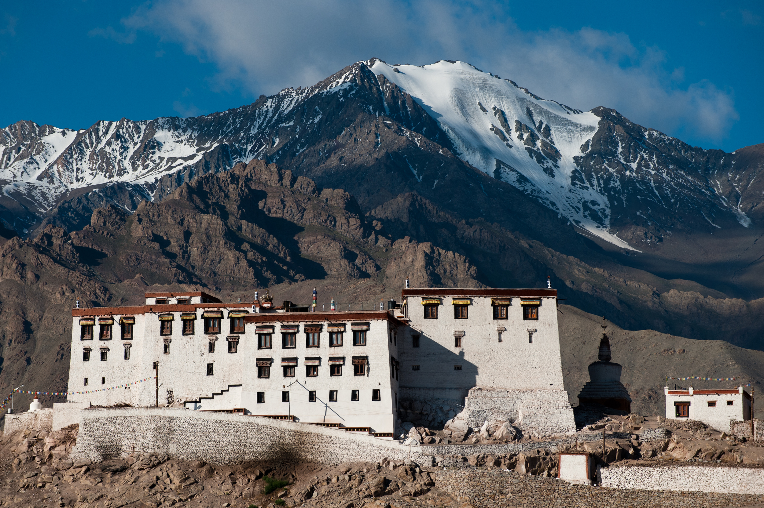 India - Ladakh   In the furthest reaches of northern India, a 16th-century monastery perches upon a rock shaped like a 'stakna', – a tiger's nose. (The Stakna monastery lies at a distance of 25 Kms from Leh on the Right bank of the River Indus).
