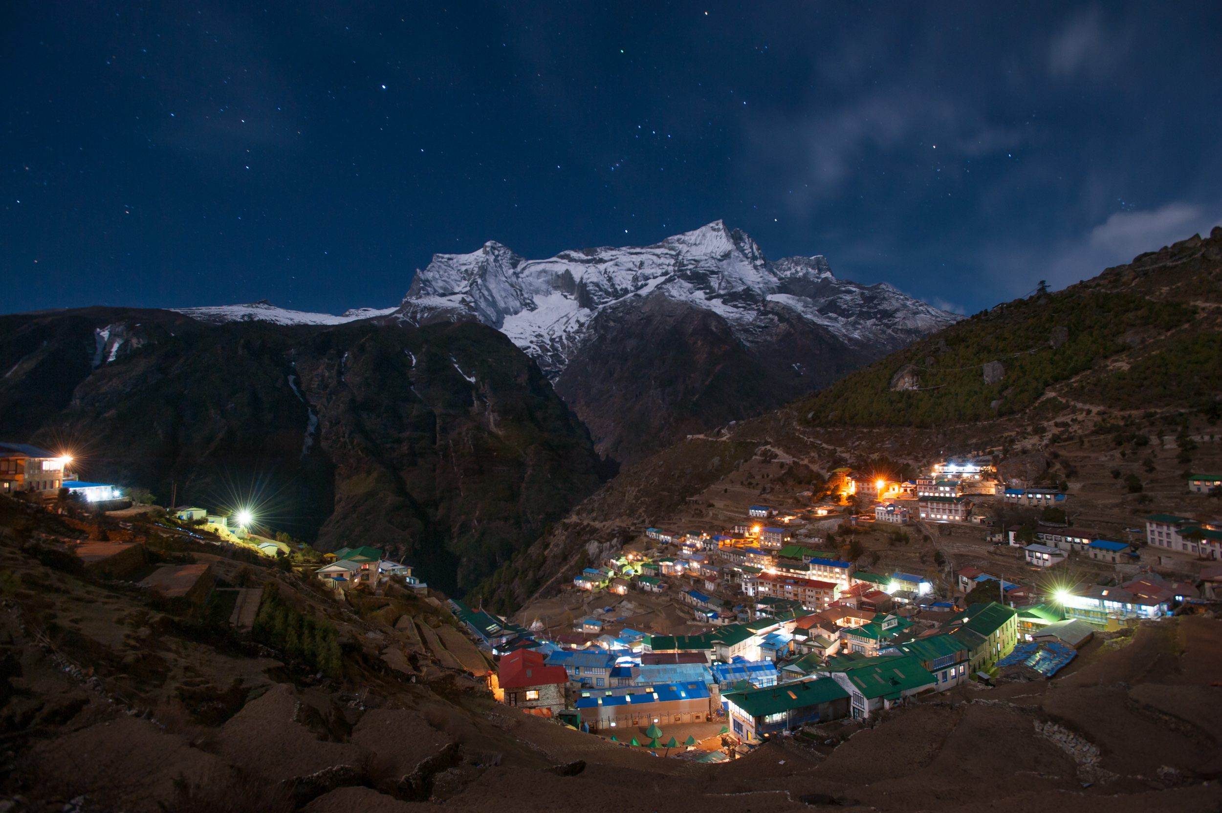 Namche Bazaar in the Everest region of Nepal