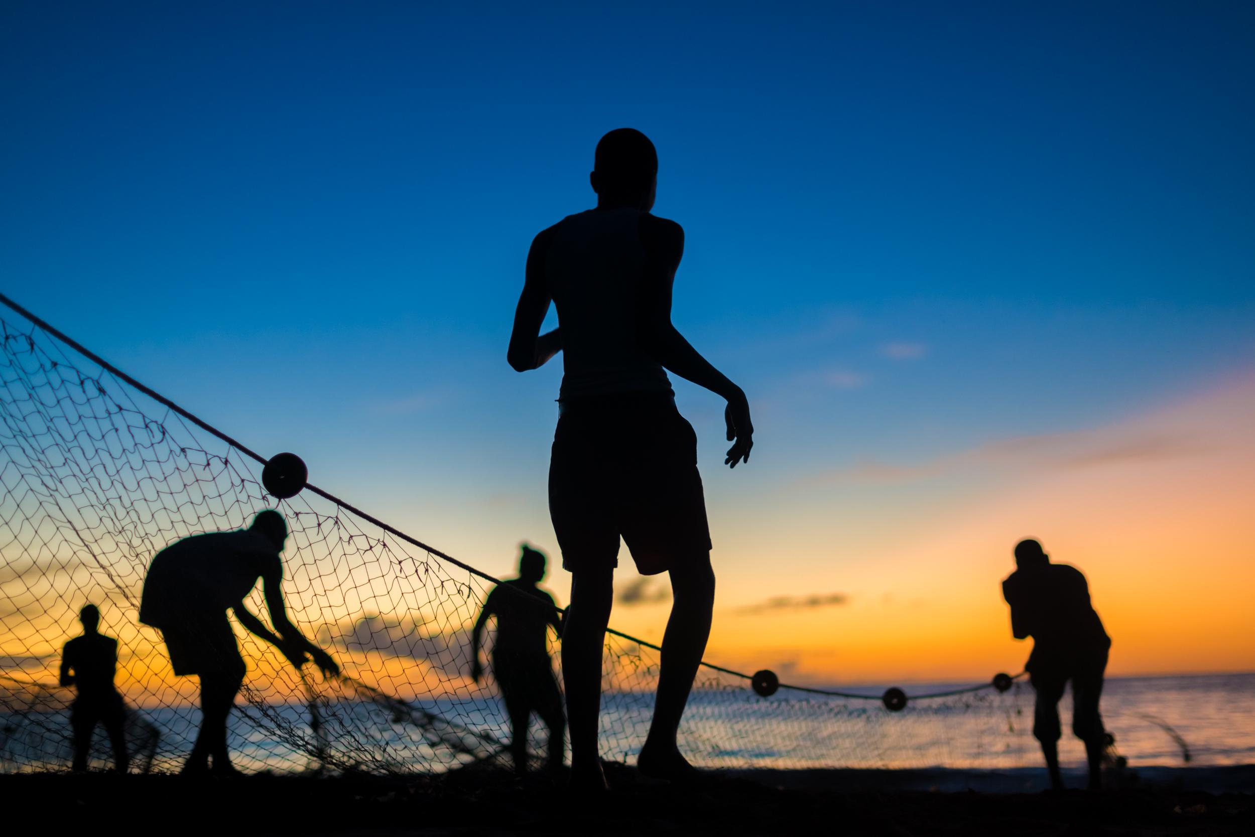 Seine fishermen, Tobago