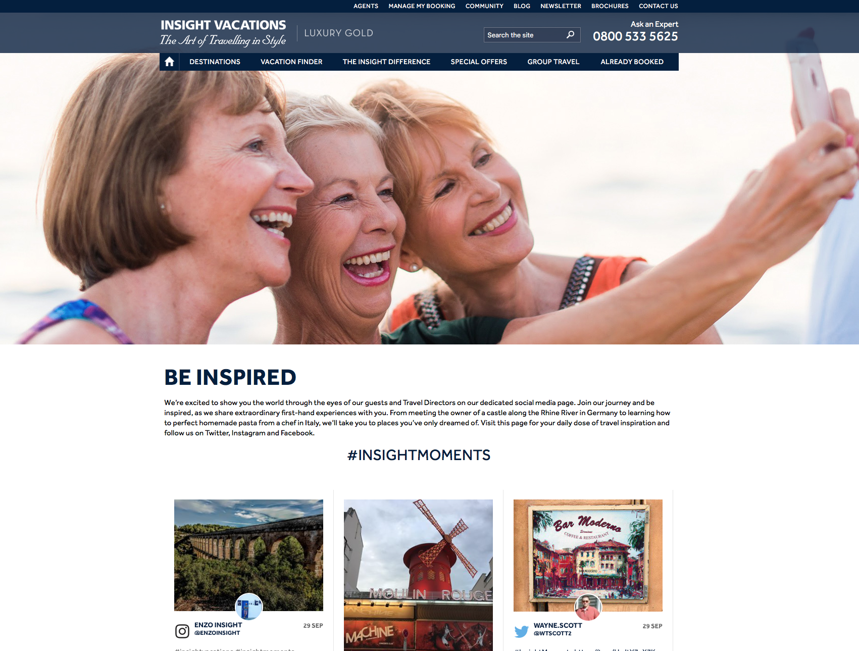Insight Vacations Website