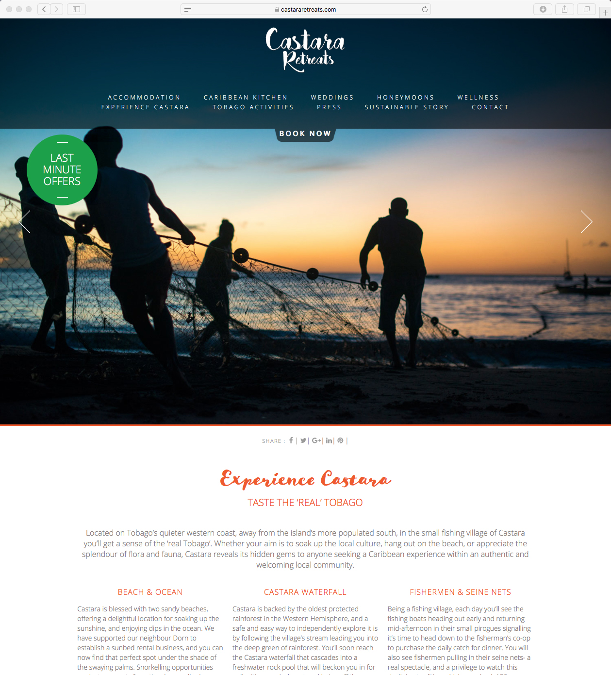 Castara Retreats website