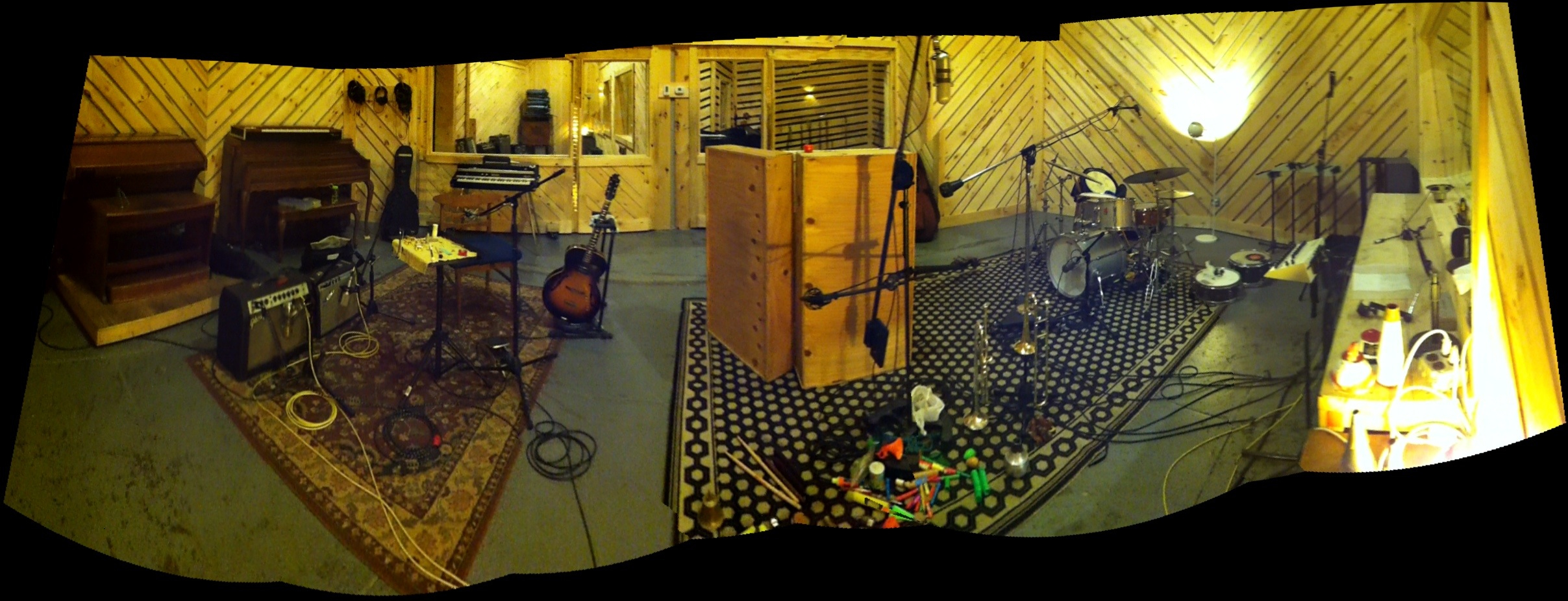 From the recording session at The Bunker Studio.