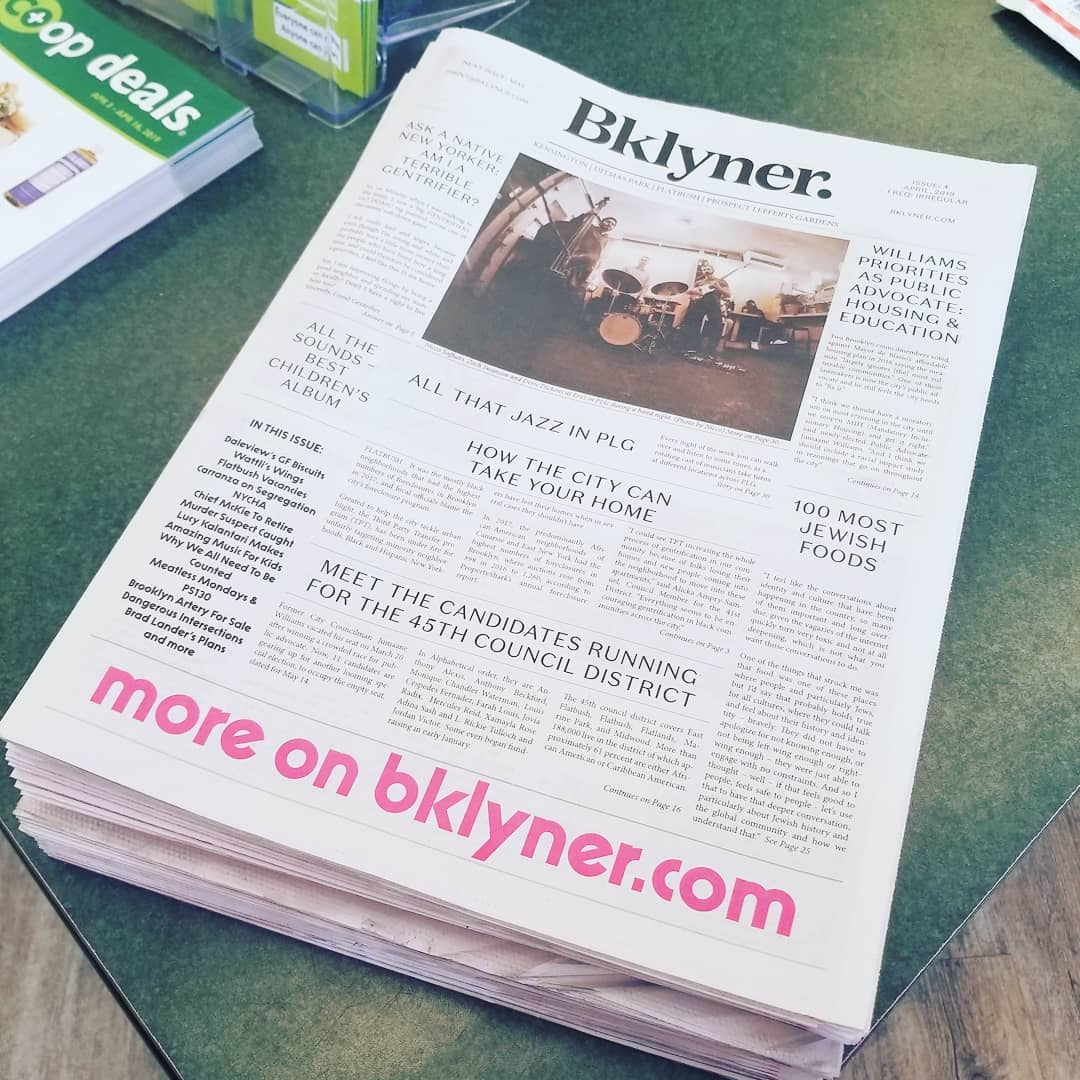 On the cover of Bklyner!