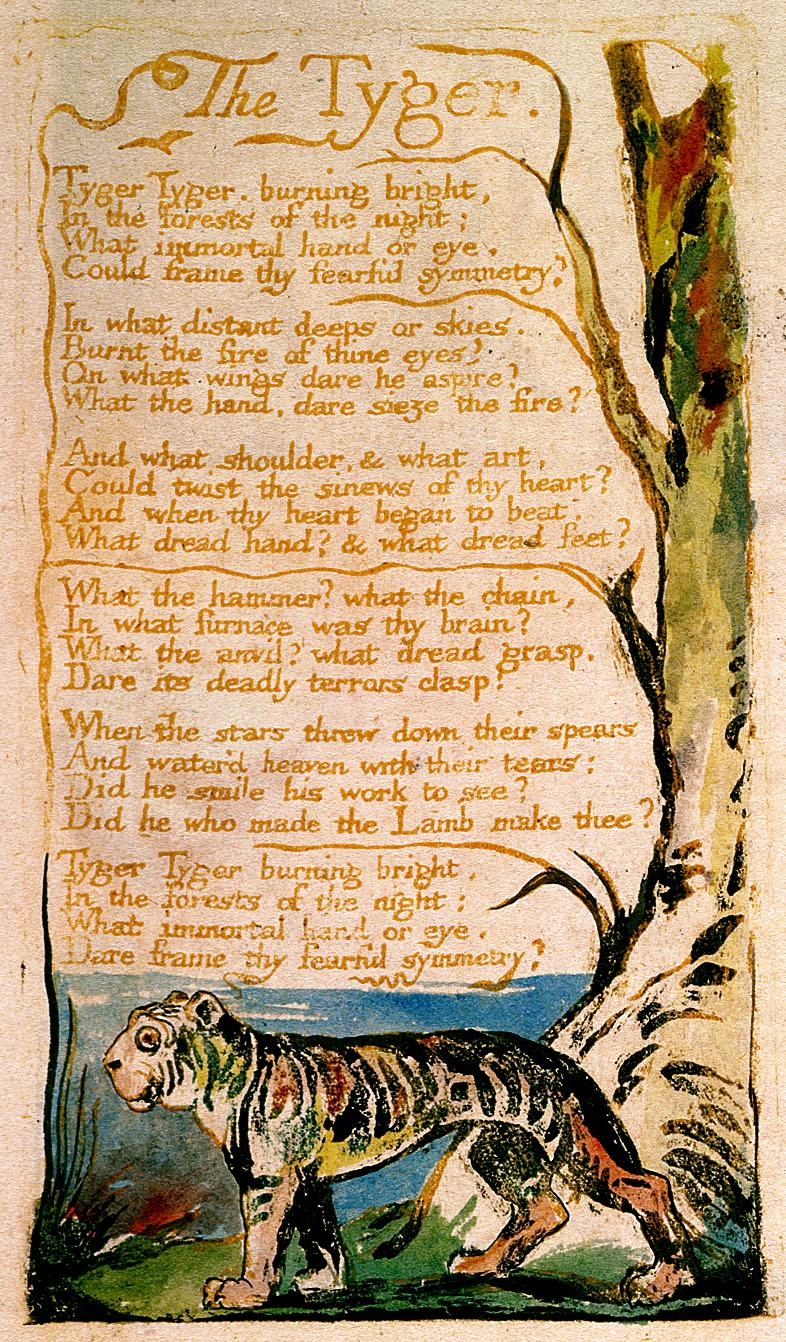 Blake's poem and illustration
