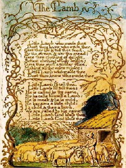 Blake's poem, The Lamb and illustration