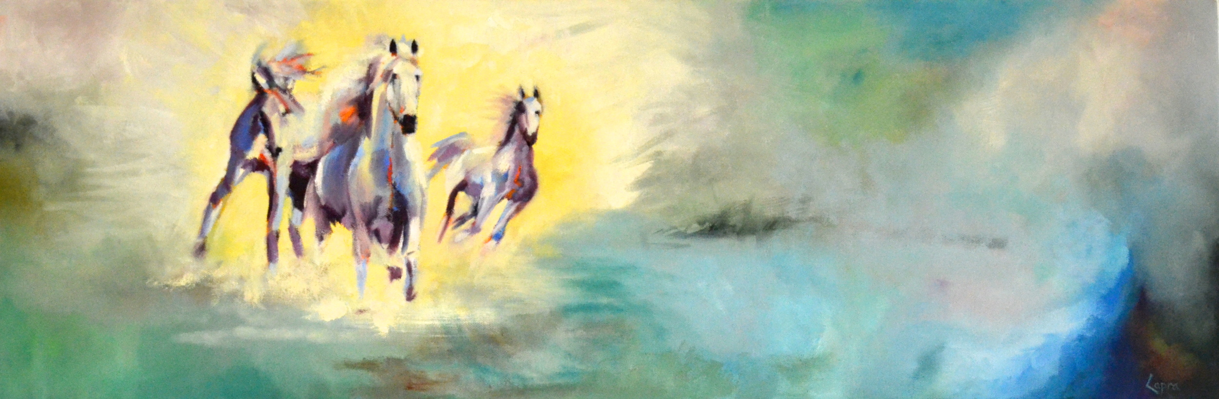 United Grace   12x36  oil painting   SOLD