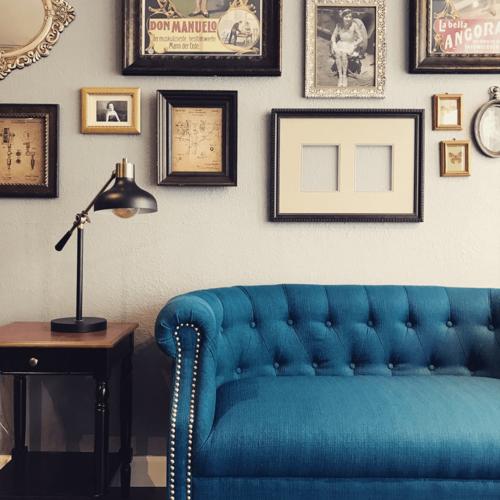 tattoo shop steam punk modern sofa interior decor painting