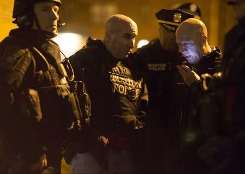 Boston Police Chief Daniel Linskey on scene with his Tactical team.
