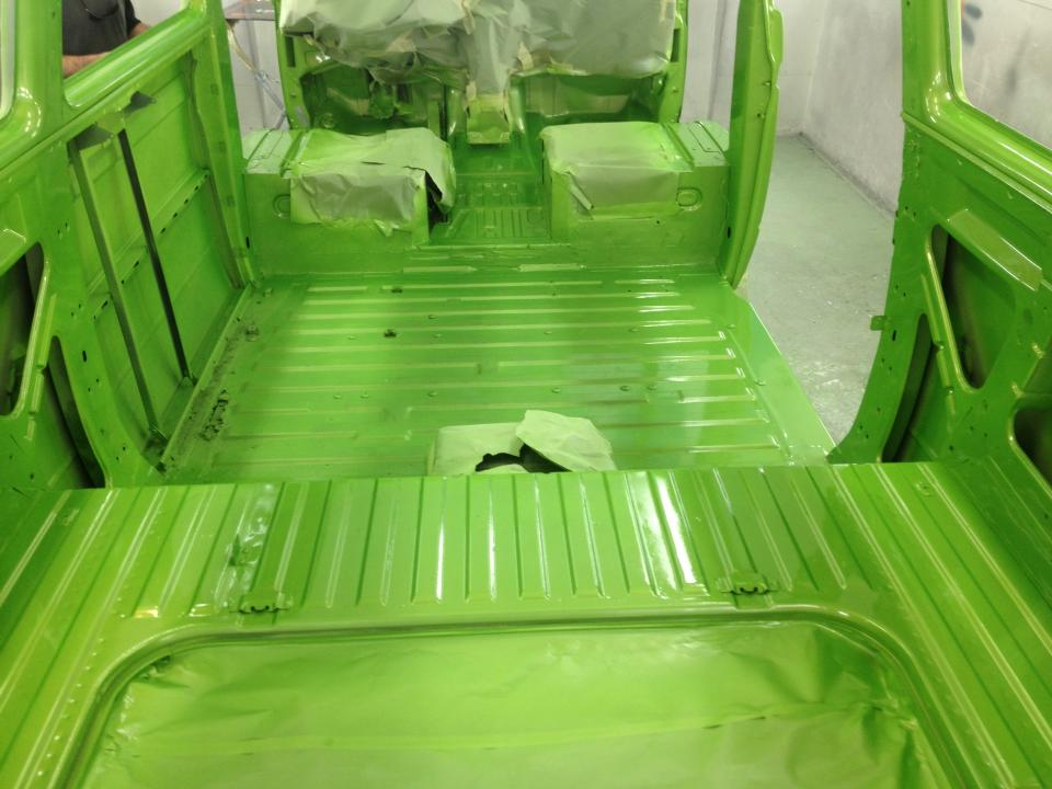 Complete interior strip and custom paint