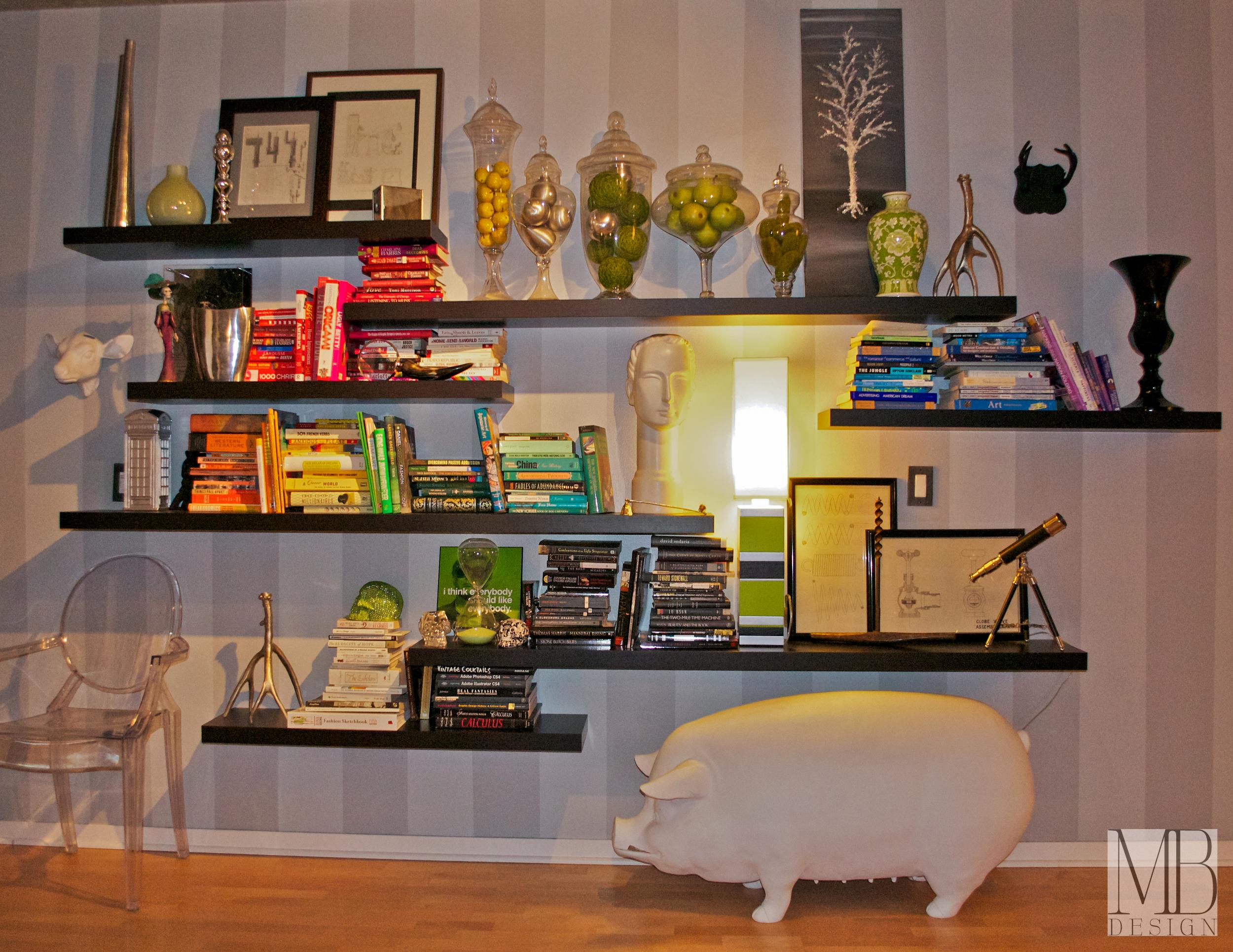Wall of Shelves