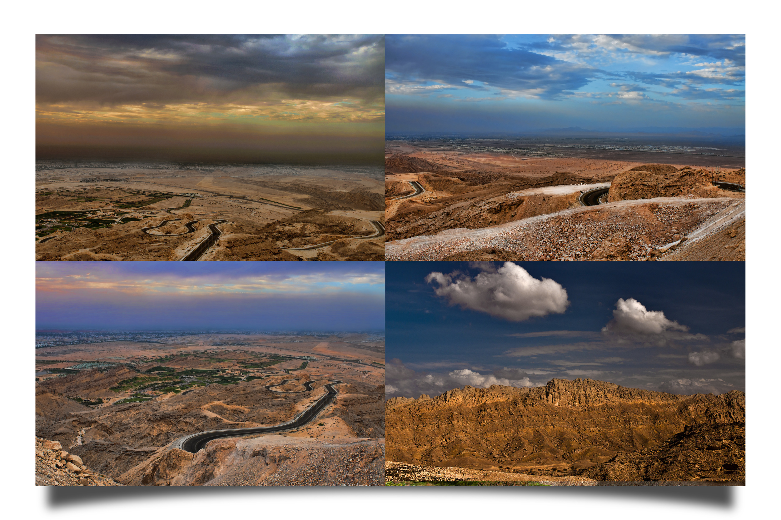 Images taken at the top of Jebel Hafeet