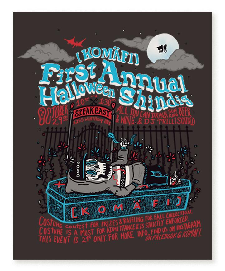 Event Promotional Flyer - Skeleton Boy