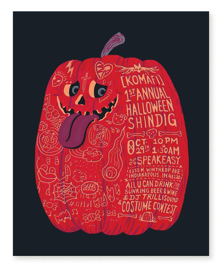 Event Promotional Flyer - Pumpkin Head
