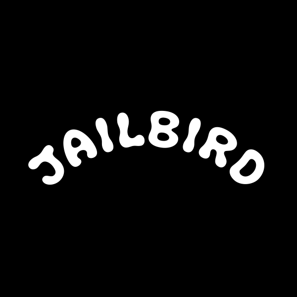 Collaborated with  Chris Corey  on this custom groovy type design to match with Jailbird mascot.