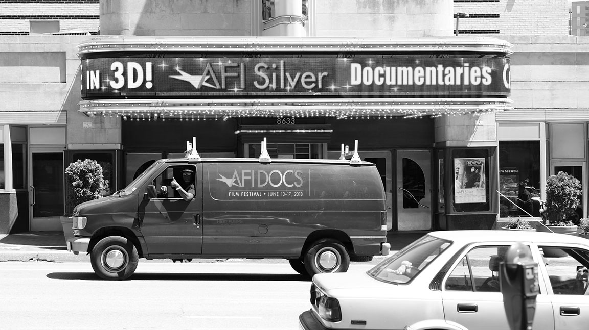 """""""Thumbs Up From The Doc-mobile Outside AFI Silver"""""""