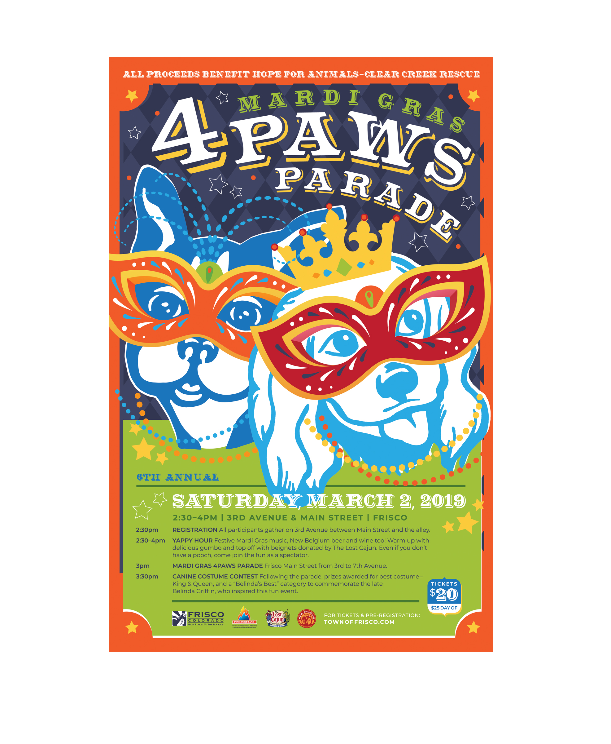 Mardi Gras 4Paws Benefitting Hope for Animals