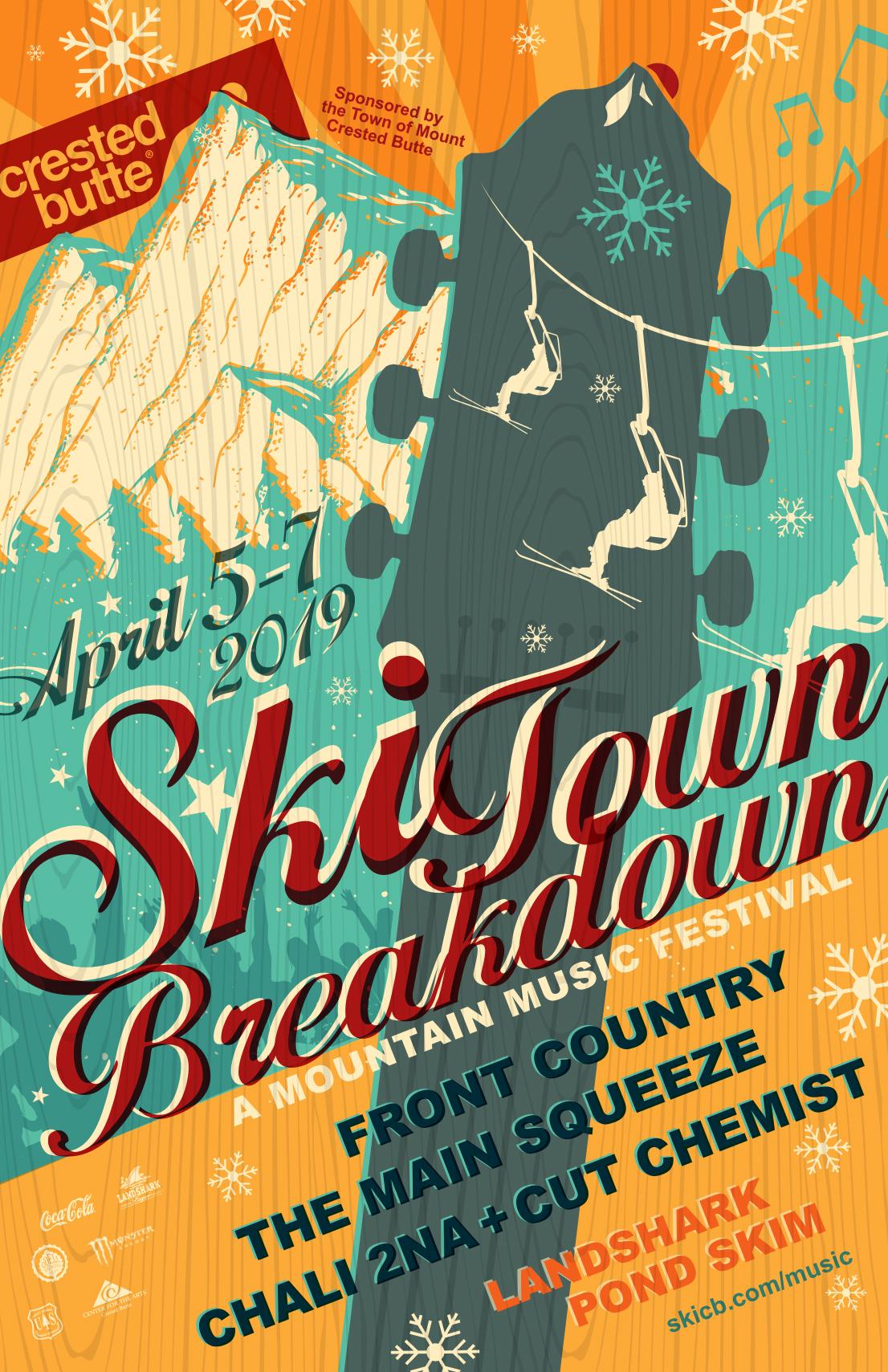 Ski Town Breakdown Poster