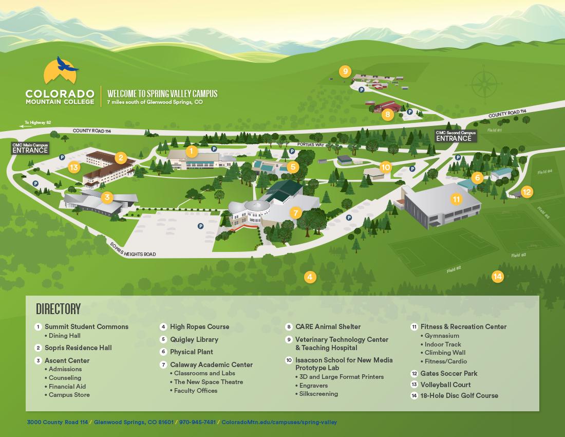 Spring Valley Campus Illustration