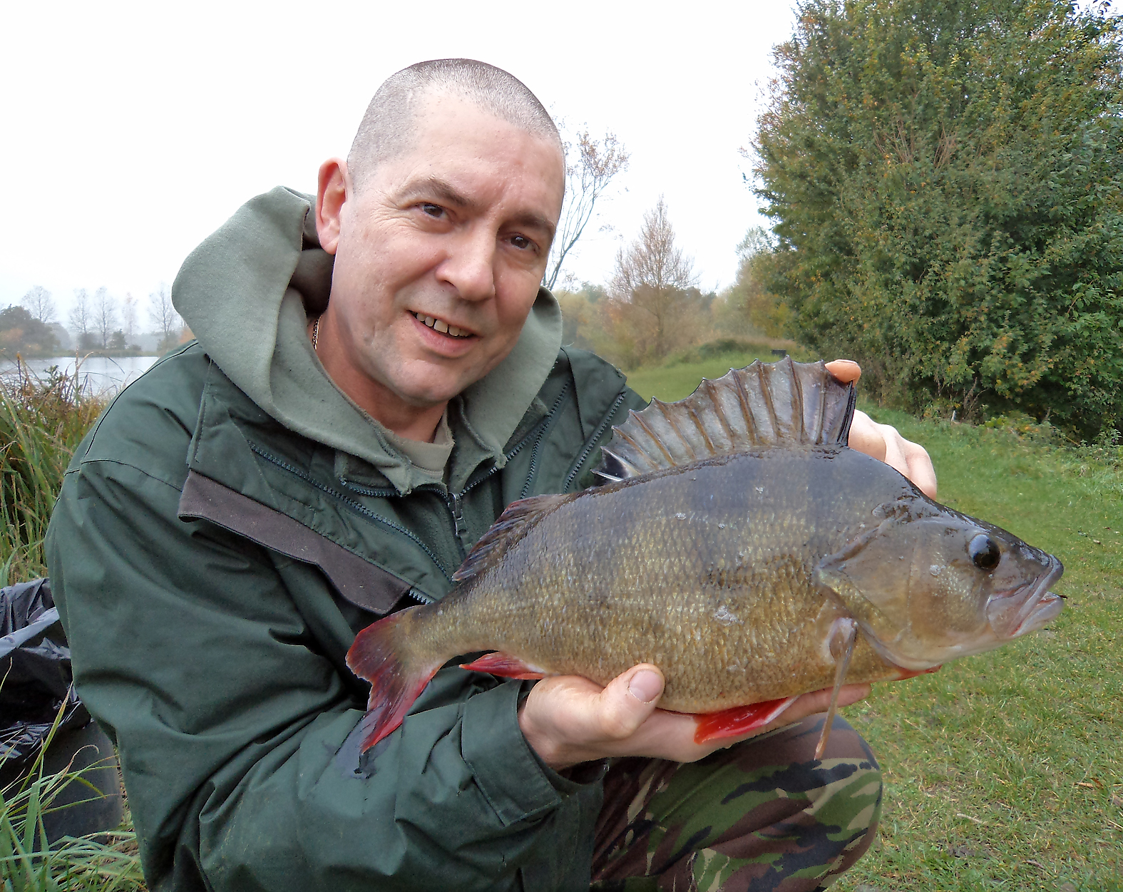 A trip to Rib Valley Fishery brought an unexpected visitor. It took a drifted roach deadbait. 3lb 5ozs.