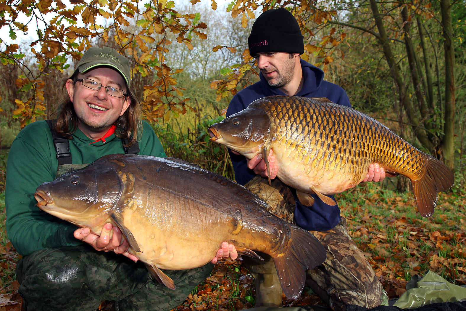 Martin with Neil Mitchell, and a cracking carp brace - more stars of the DVD