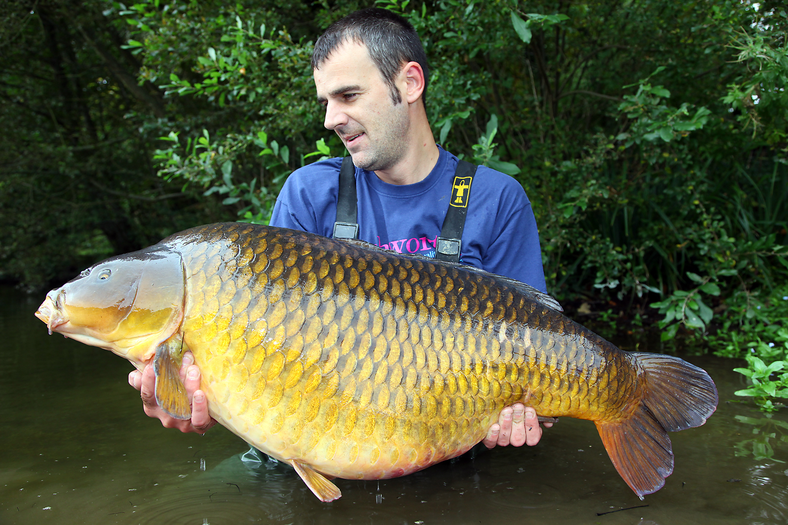 Neil Mitchell cradles a huge common from Abbas