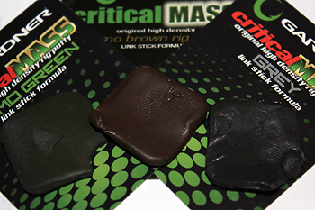 "15) take a piece of  Gardner ""Critical Mass"" putty, I like to choose the colour relative to the bottom im fishing over, in this instance it's the ""Camo Green"" putty that I have chosen as im using this rig over light weed."