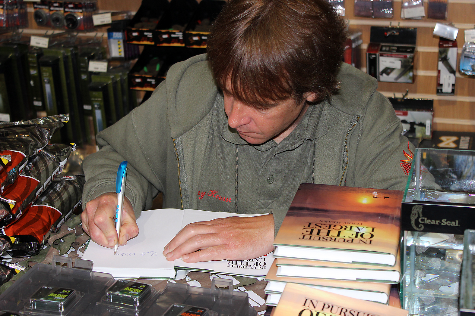With book signing, rig explanations, Terry tried his best to answer all questions