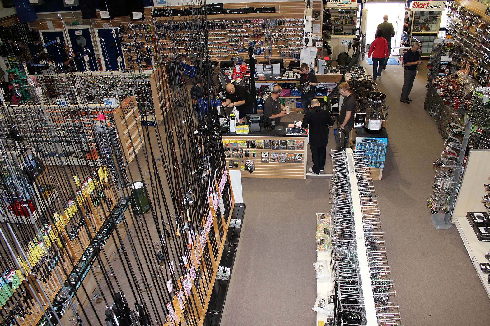 or rods, hooks, line, leads... the lads at Angling Direct will sort you out!