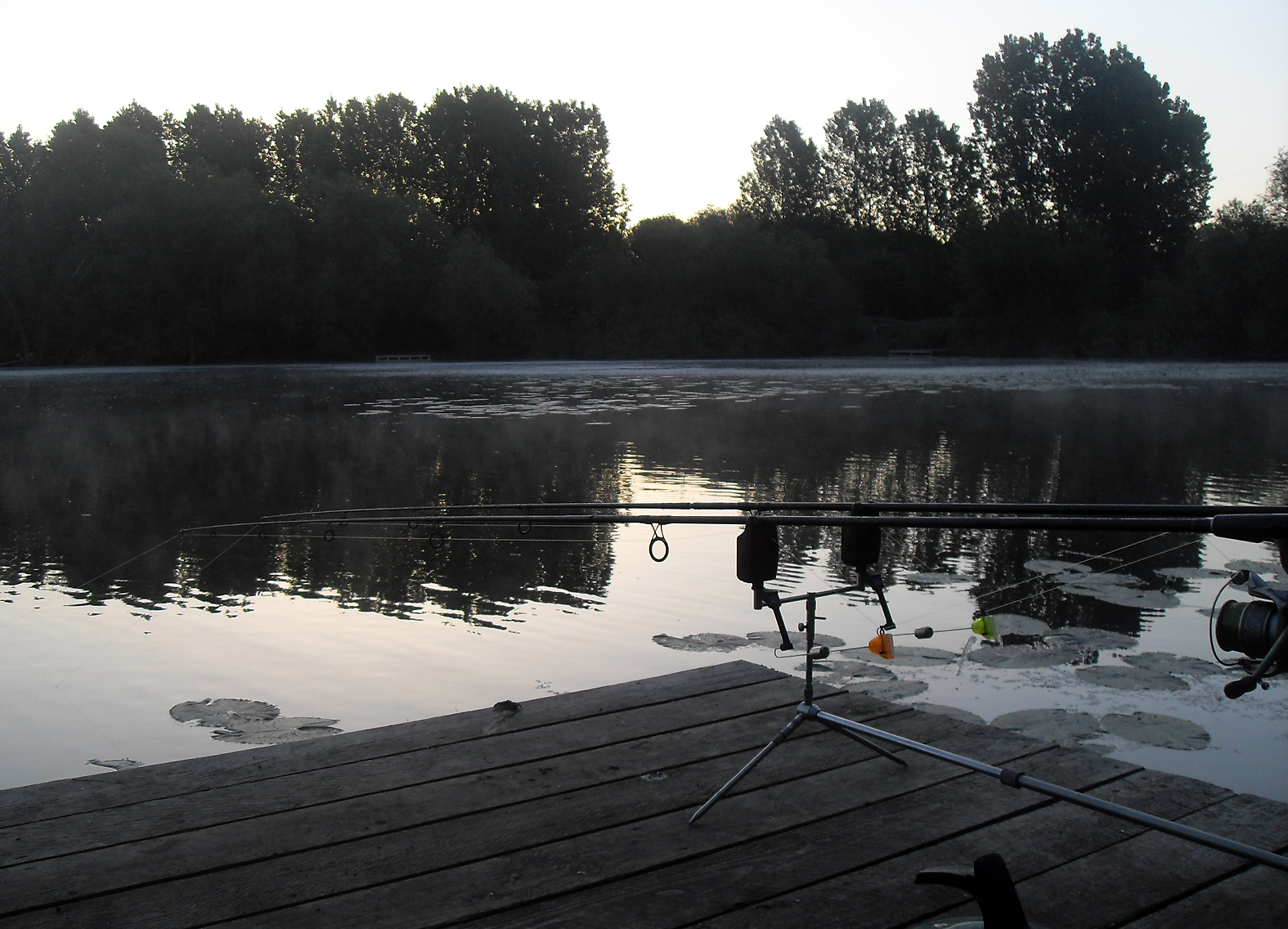 Set up for a carp or two, at Jerry Hammond's Brooke Lake