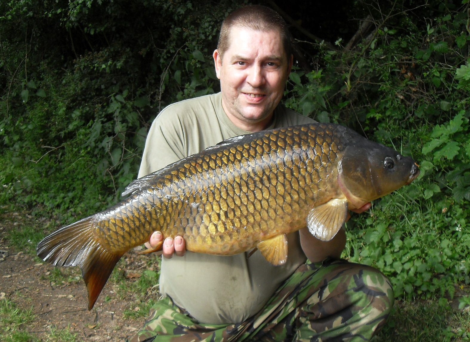 A chunky common, caught fairly quickly after we'd set up