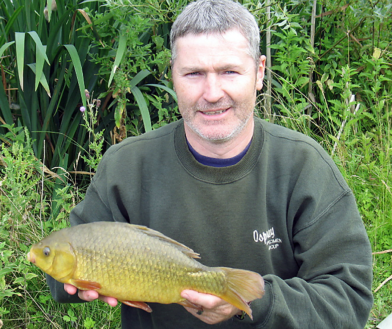 After bagging a few rudd another crucian comes to the net