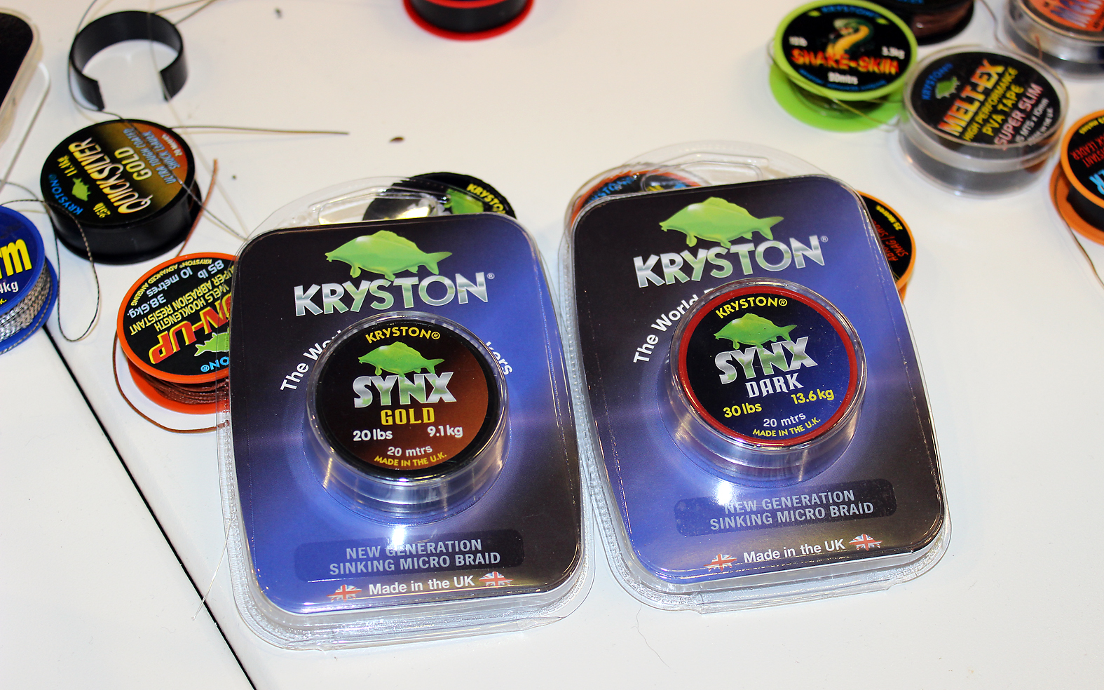The new coated braid from Kryston, 30 lbs Synx Dark
