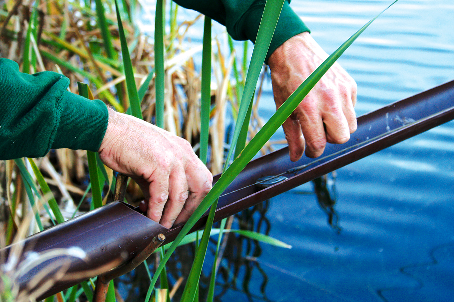A nifty idea to get your end tackle right on your spot when fishing the far margin