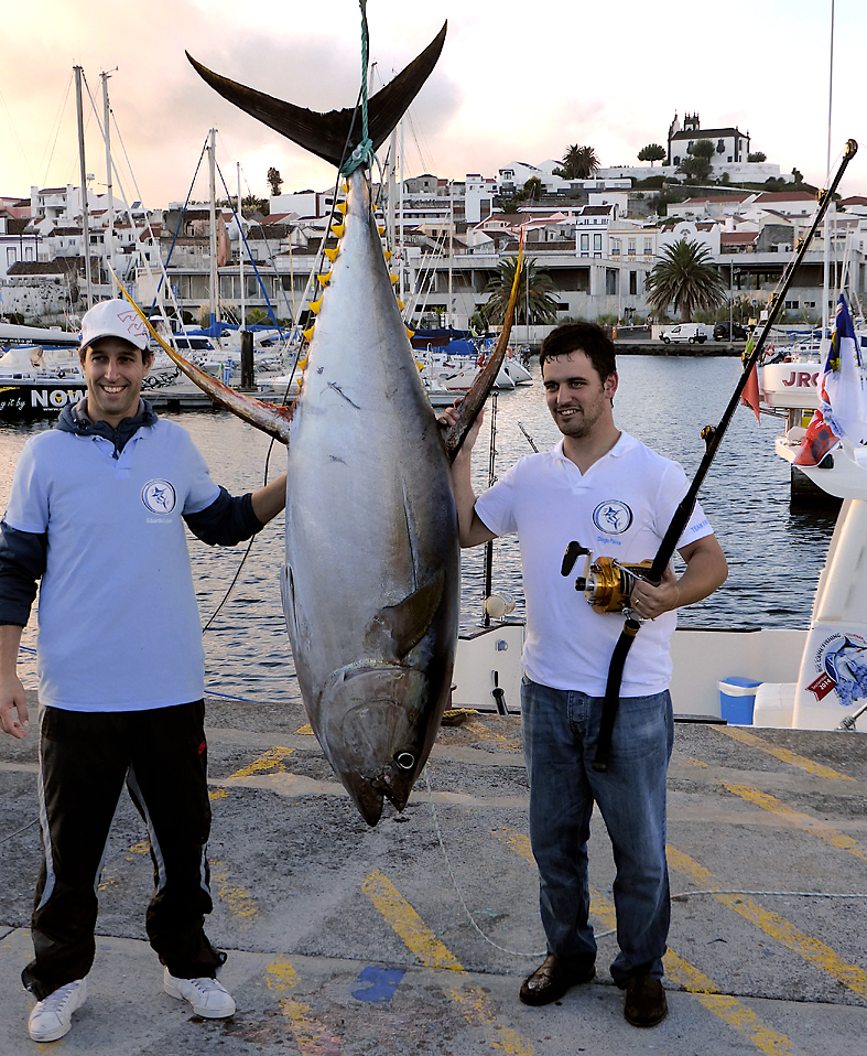 A 104kg yellowfin tuna that was the first of two fish caught by the eventual tournament winners, their other being a 107kg big eye tuna