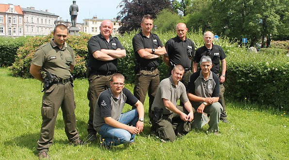 Angling Trust enforcement staff with PSR officers in Koszalin, Poland, June 2014