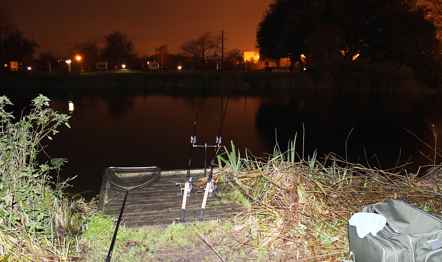 Just me and my rods, the start of our chub fishing this winter on the Lea