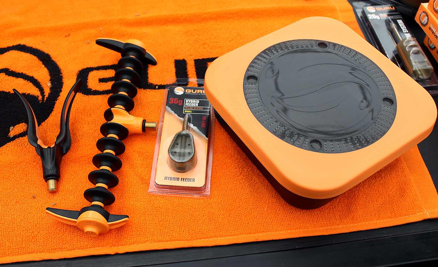 From rod rests to feeders to baitboxes, all new products from Guru due out this May