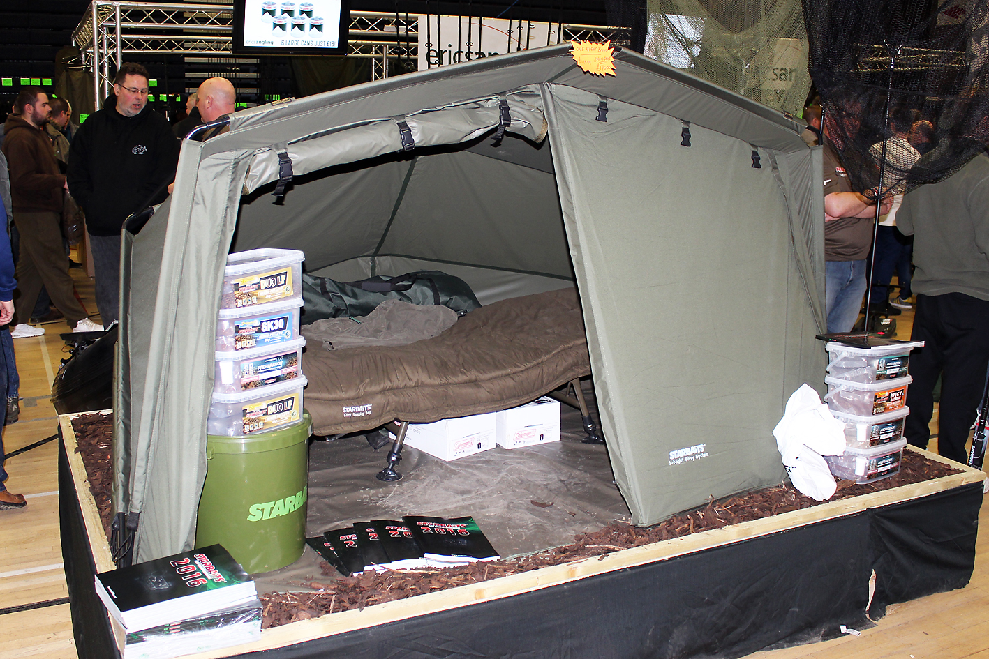 Invite the family over! Plenty of room in the 1-Night Bivvy System from SB Tackle