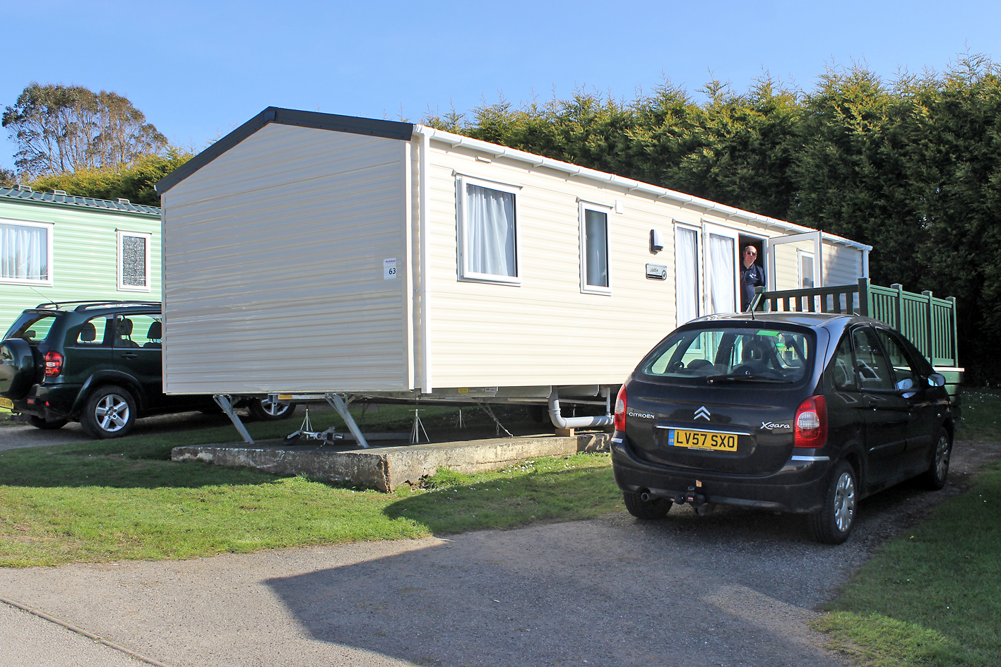 Our home for the week, the Coverack caravan