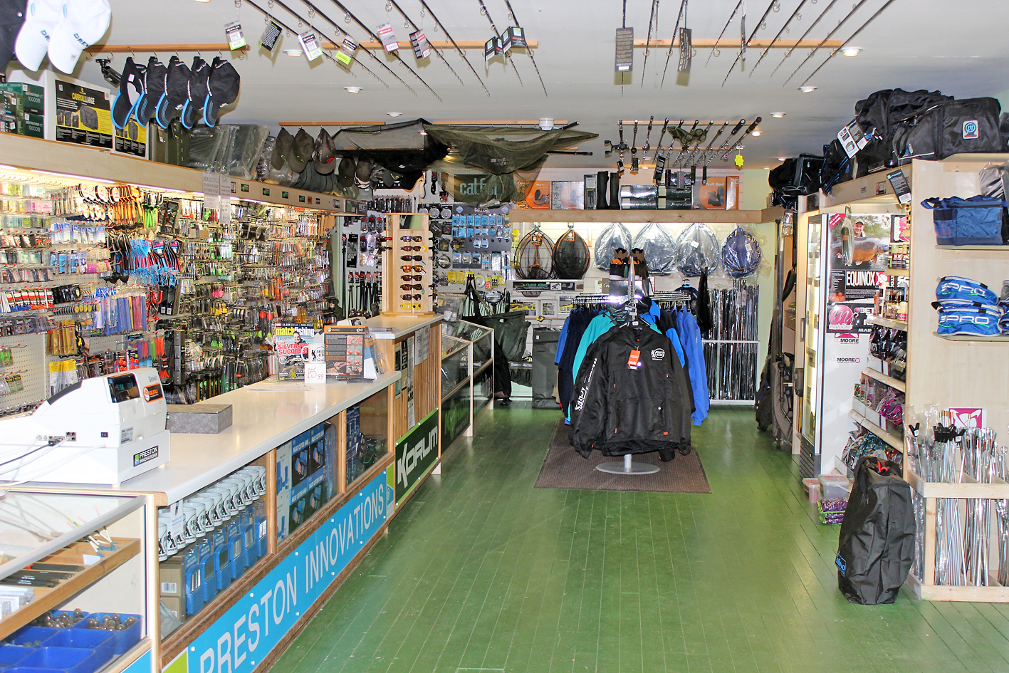 There's not much you won't find in their well stocked tackle shop