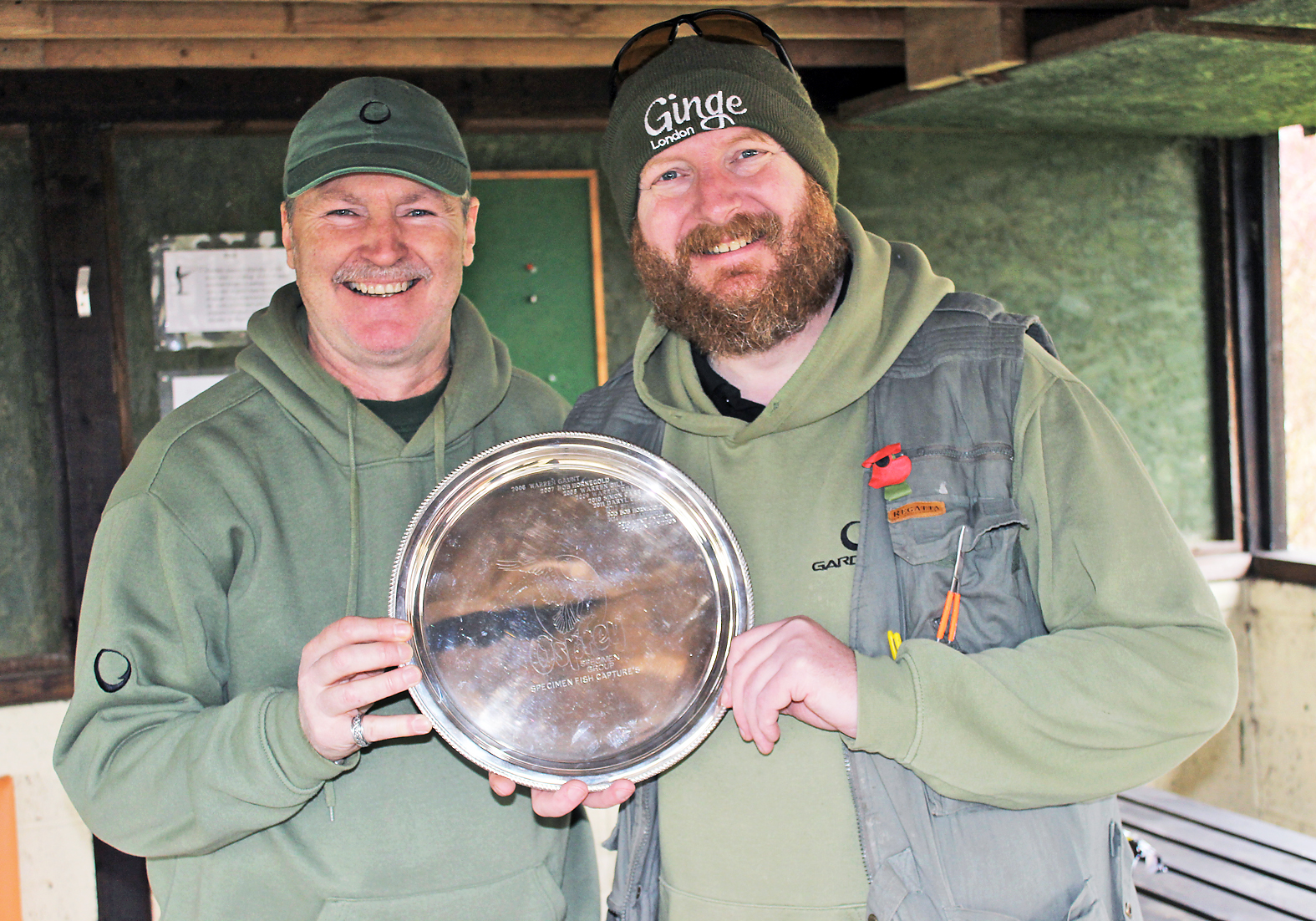 It's a pleasure to present Mike with the Osprey Salver for some top angling